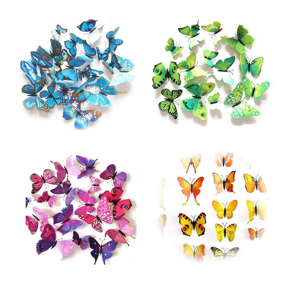 3D Vlinders Mix kleuren