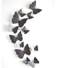 3D Vlinders Zwart