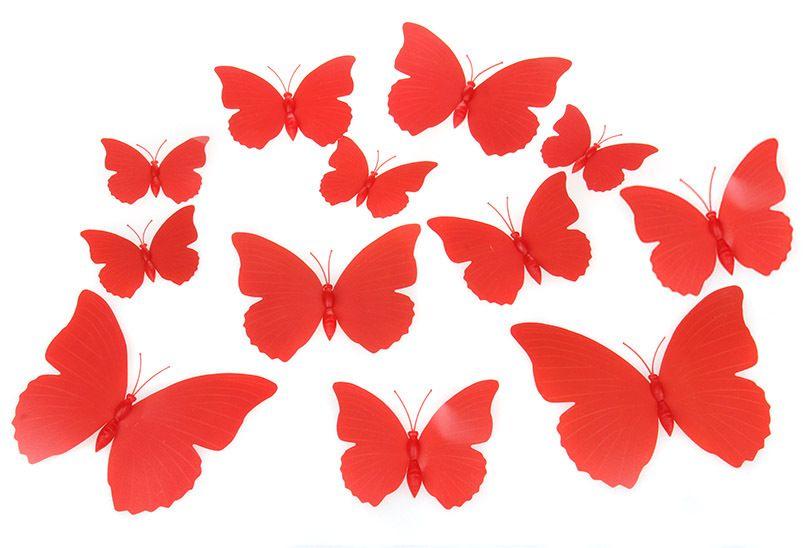 Vlinders 3D Rood