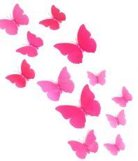 Vlinders 3D Roze