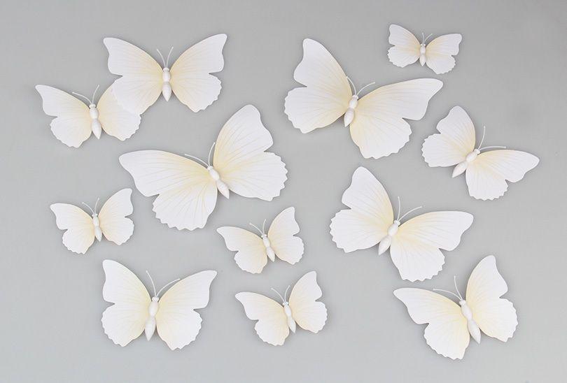 Vlinders 3D Wit