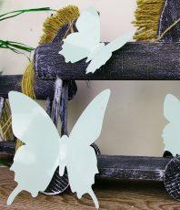 Effen 3D Vlinders Mint