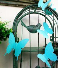 Effen 3D Vlinders Turquoise