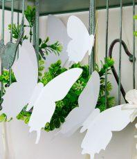 Effen 3D Vlinders Wit