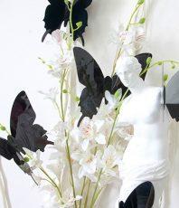 Effen 3D Vlinders Zwart