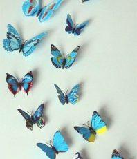 Kleurrijke 3D Vlinders Blauw