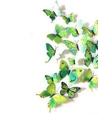 Kleurrijke Vlinders 3D Groen