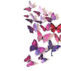 Kleurrijke Vlinders 3D Roze Paars