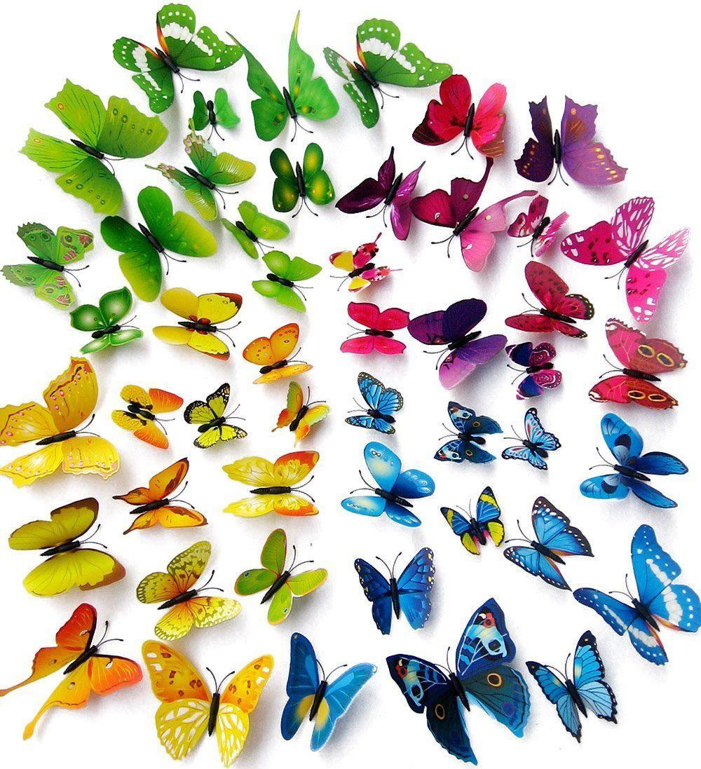 Kleurrijke Vlinders 3D Set