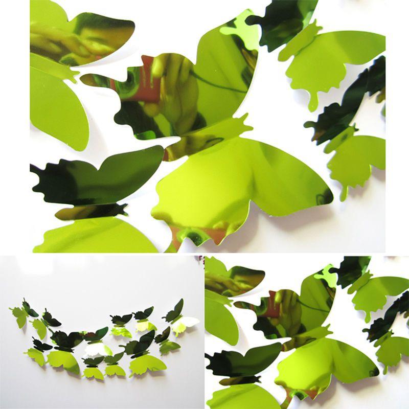 Spiegel 3D Vlinders Groen