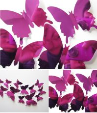 Spiegel 3D Vlinders Roze