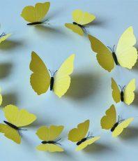 3D Vlinders Geel