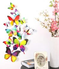 3D Vlinder Stickers Kleuren