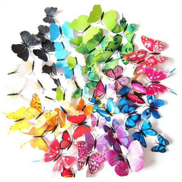 Kleurrijke 3D Vlinders Set Deluxe