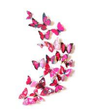 Kleurrijke Vlinders 3D Roze